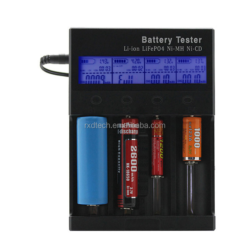 16340 18650 LCD Intelligent battery Fast Charger Lithium Battery Charger