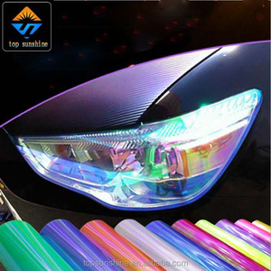 car light wrap film Chameleon headlight tint film color change vinyl sticker