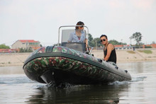 CE Certification Fiberglass Hull rubber boat rigid inflatable boat!