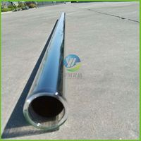 2015 Chinese High Efficient Solar Receiver Borosilicate Glass Tube For Parabolic Trough Solar Collector