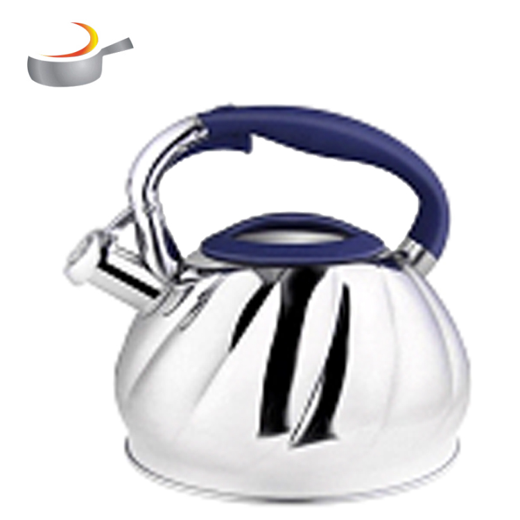 Whistling Teapot Stainless Stove Top Tea Kettles 3L/3.5L  Outdoor Water & Camping Teapot with black bakelite knob