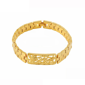 chain gauge p hollow bracelet gold v mariner