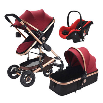 2018 hot sale new baby stroller 3 in 1 with high quality 360 universal wheels cool baby buggy