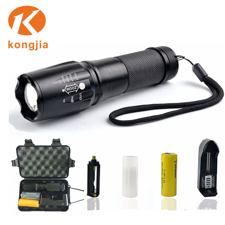 Military Grade XML T6 Flashlight High Power Rechargeable Emergency Light Tactical G700Flashlight