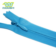 Oeko Tex Lace Tape Invisible #3 Nylon Zipper Long Chain Close-End Custom Plastic Coil Zip For Dress