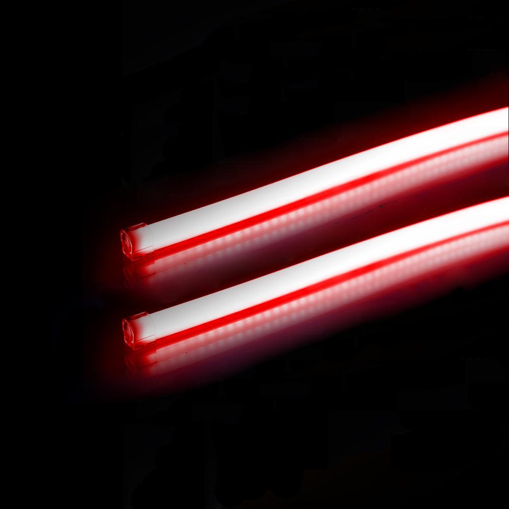 2 шт./лот 85 см 2015 новый универсальный гибкие drl двойной цвет автомобилей из светодиодов дневного света с поворота одного свет