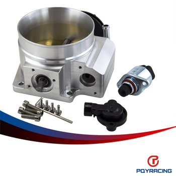 Pqy Racing-92mm Throttle Body + Tps Iac Throttle Position Sensor For Lsx Ls  Ls1 Ls2 Ls6 Silver - Buy Ls1 Ls2 Throttle Body,Throttle Position