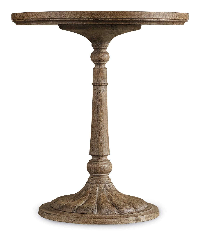 Hooker Furniture Corsica Pedestal Bedside Table In Light Wood