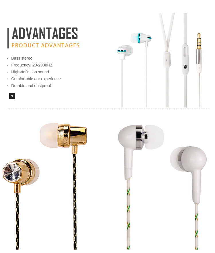 best selling products low price 3.5 mm earphone noise cancelling dustproof
