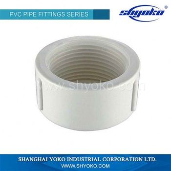 3 Inch Pvc Pipe Fittings Pvc Threaded End Cap For Wholesales