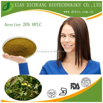 Horse Chestnut Extract Powder/Semen Aesculi/ Aesculus hippocastanum Seed Extract with Aescin 20% 40% UV, Aescine
