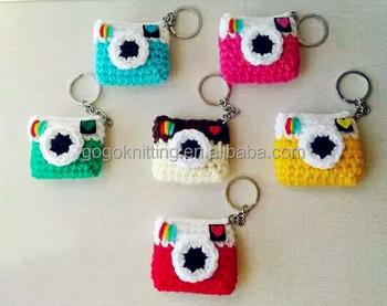 Fashion Design Creative Gift Keychain Crochet Small Camera Diy Kit Craft