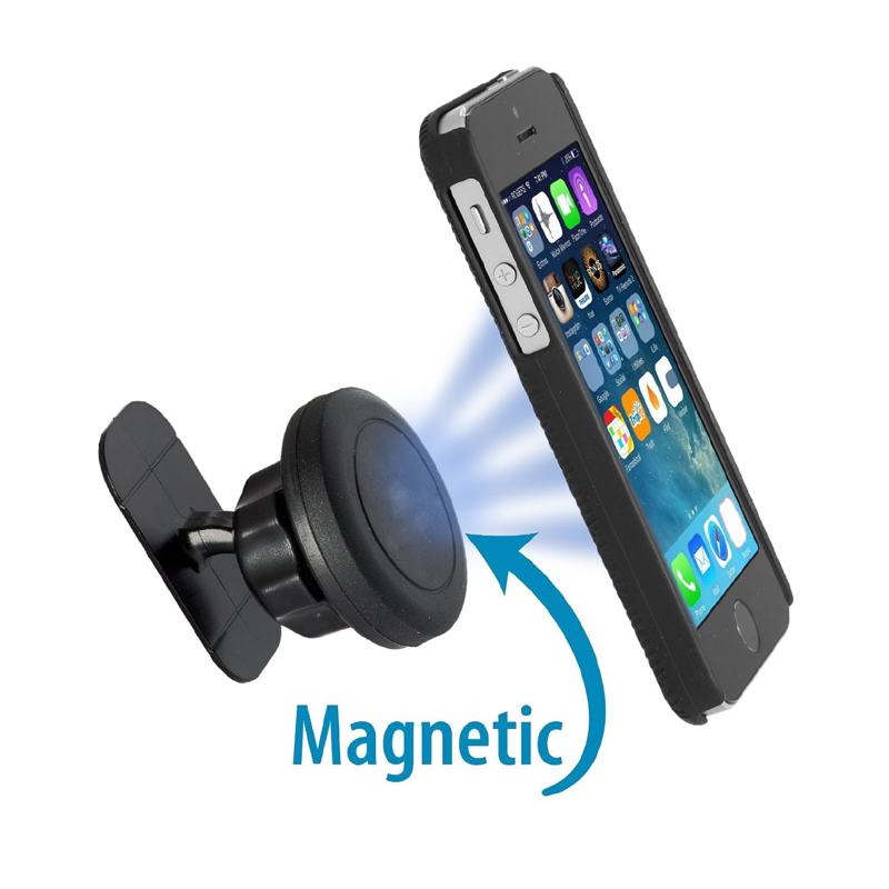 Mini 360°Rorating Stick On Dashboard Magnetic Car Mount Holder Cradle For Phone