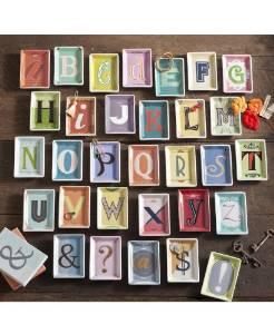 ROSANNA Alphabet Studio Trinket Tray- Letter C