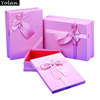 customized Hot saling pink packaging gift box with silk ribbon