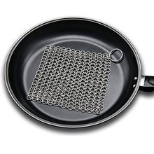 Stainless steel mesh Chainmail dish Scrubber Cast iron pot Scrubber washcloth pan Scrubber