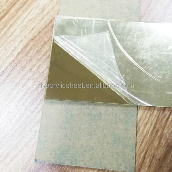 Acrylic mirror sheet samples with adhesive back