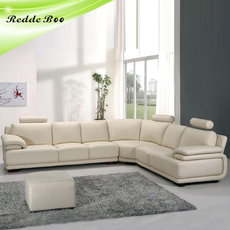 Woonkamer wit lederen hoekbank ontwerpen 711-woonkamer sofa-product ...
