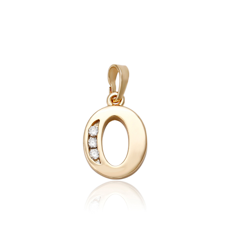 33024 xuping 18k gold plated <strong>fashion</strong> o alphabet pendant design