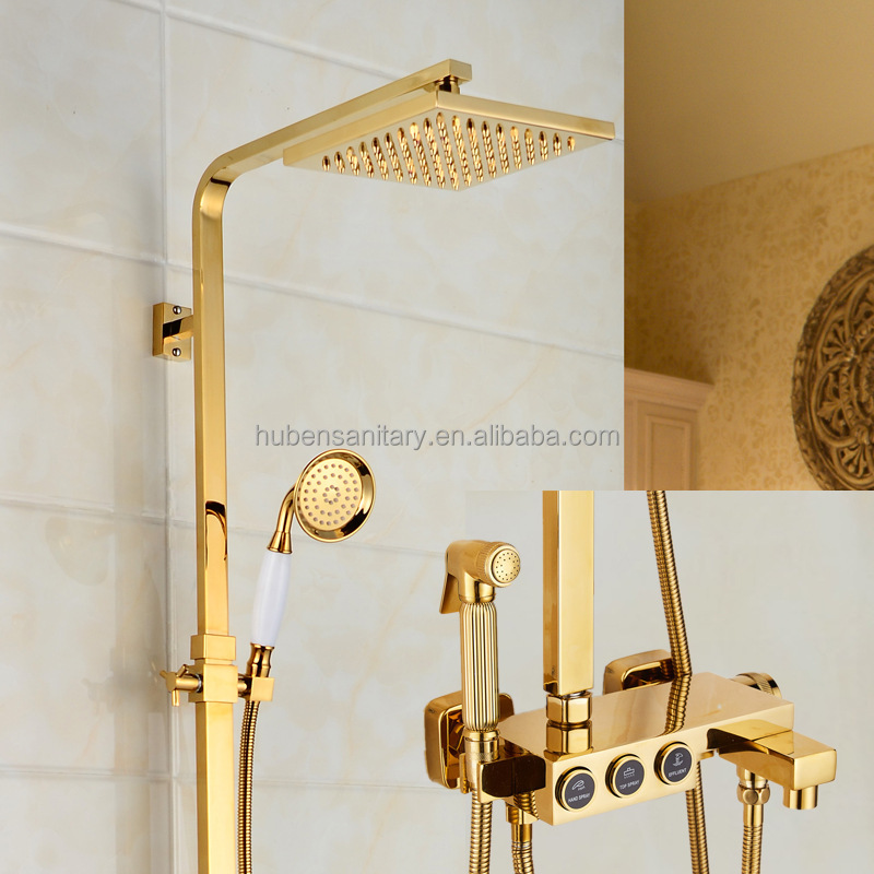 Gold Shower Set, Gold Shower Set Suppliers and Manufacturers at ...
