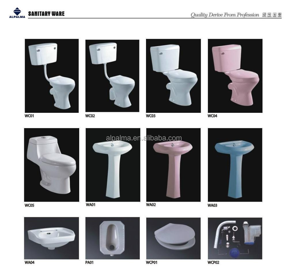 Gute qualität twyford wc becken bad sets farbige wc