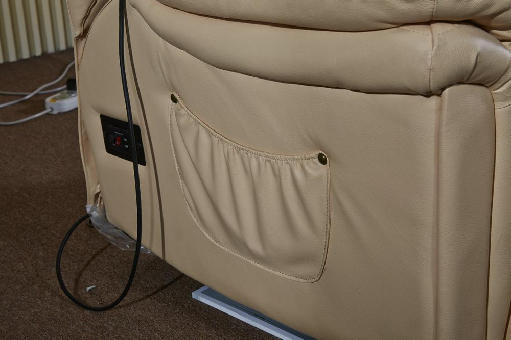Comfortable Genuine Leather Electric Manual Recliner
