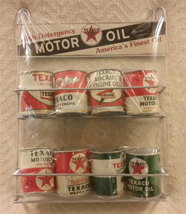 8 TEXACO Motor Oil Can Rack Pump Outboard Aircraft Engine Sign Globe Mobile