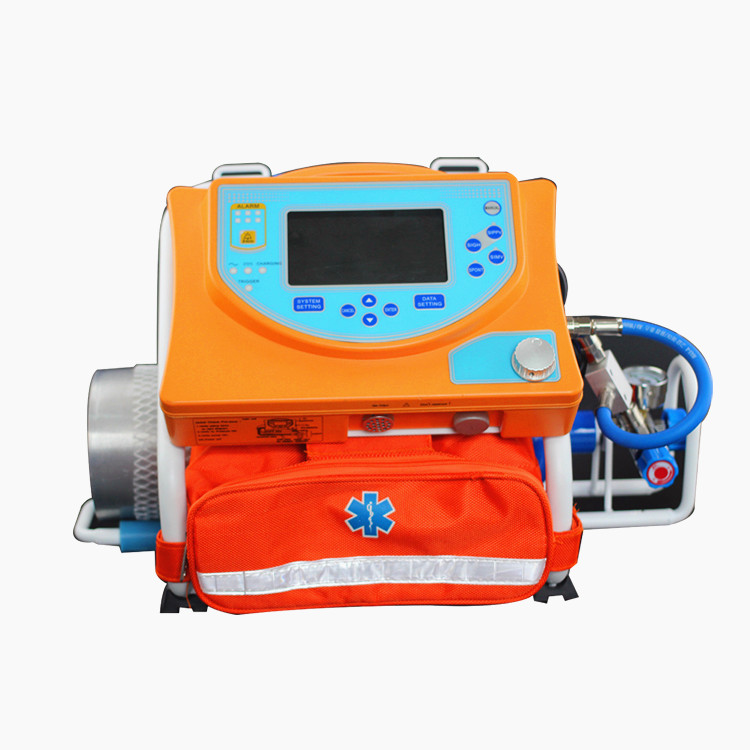 Medical first aid ventilator machine with a light weight and portable