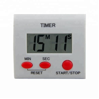 Magnetic Digital Large LCD Display Kitchen Timer with Alam Function in ABS Plastic Material