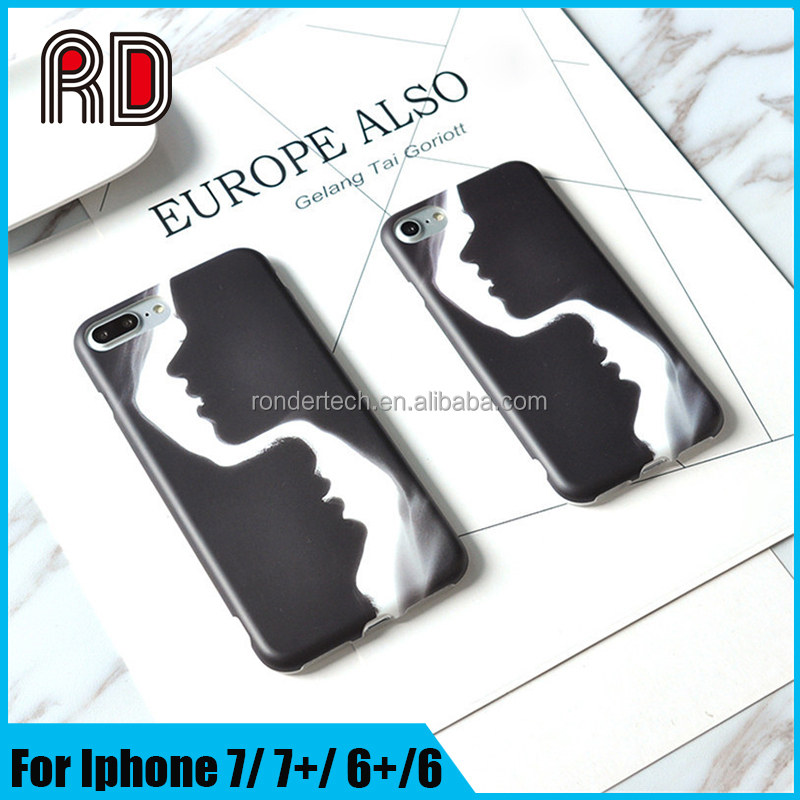 Original style shadow paint art minimalist case soft tpu IMD phone case for iphone 7 7plus
