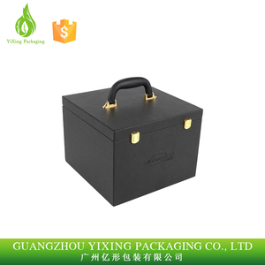 wholesale custom fancy cosmetic empty jewellery gifr PU leather packaging box