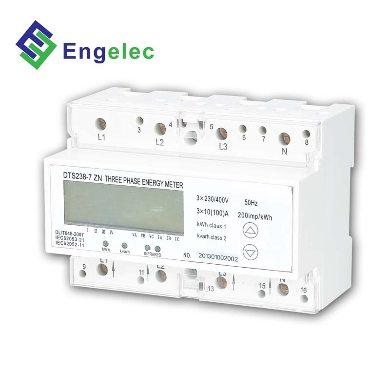 DTS238-7 ZN three phase rs485 wireless power <strong>meter</strong>, remote control smart power <strong>meter</strong>