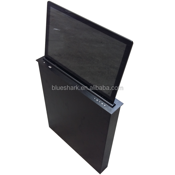 15.6 inch Table mount touch screen conference desk lcd monitor lift
