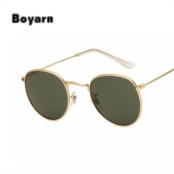 b0ecc2e747eda Boyarn Retro Rodada Óculos De Sol Das Mulheres Dos Homens Marca Designer  óculos de Sol para