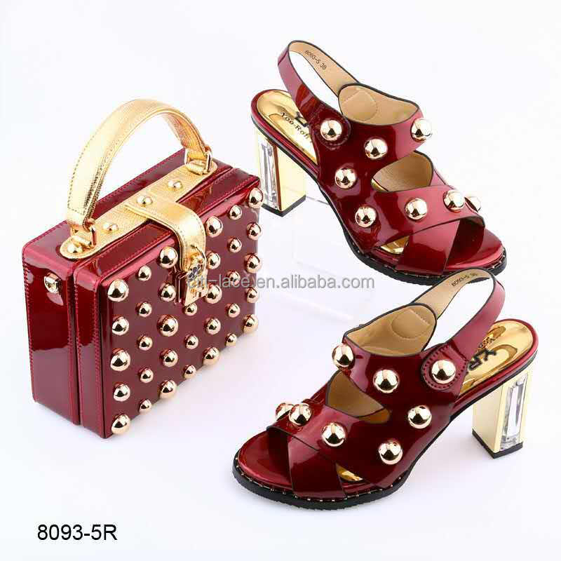 quality high fashion african heels and bag nigeria matching high party 2016 set with BL8093 bag shoe qgAwxn5