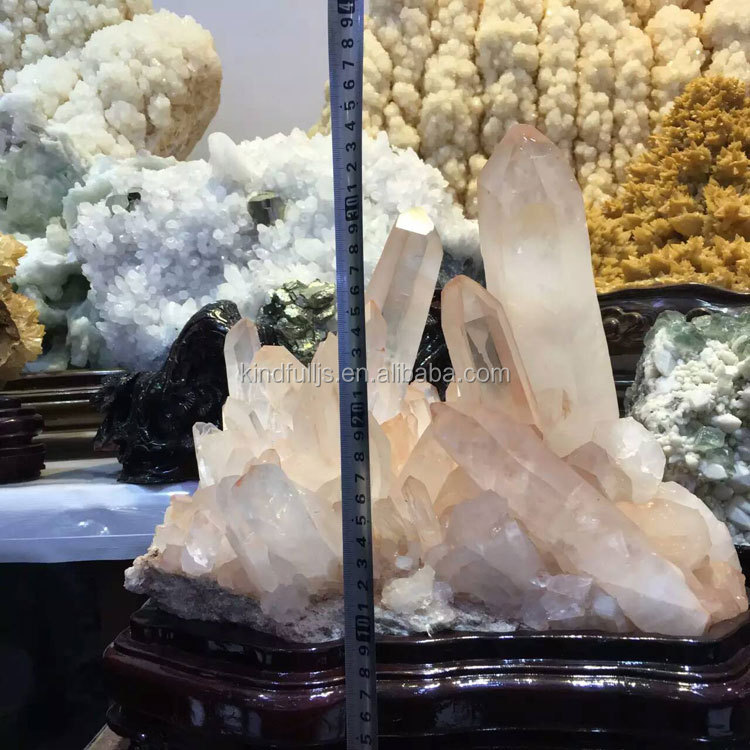 100% Natural Office Decorative Large Crystal Cluster with Base