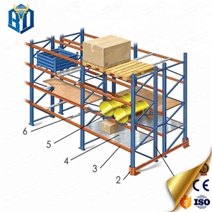 Factory fair price used tire racks heavy duty pallet warehouse rack
