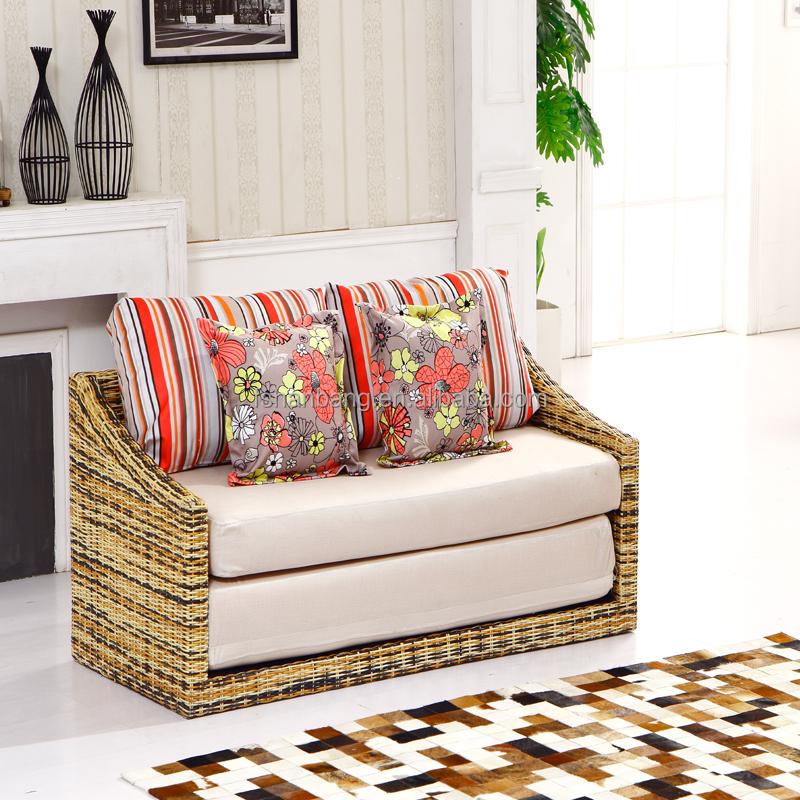 Convertibile vimini divano letto in rattan divani di for Divano convertibile