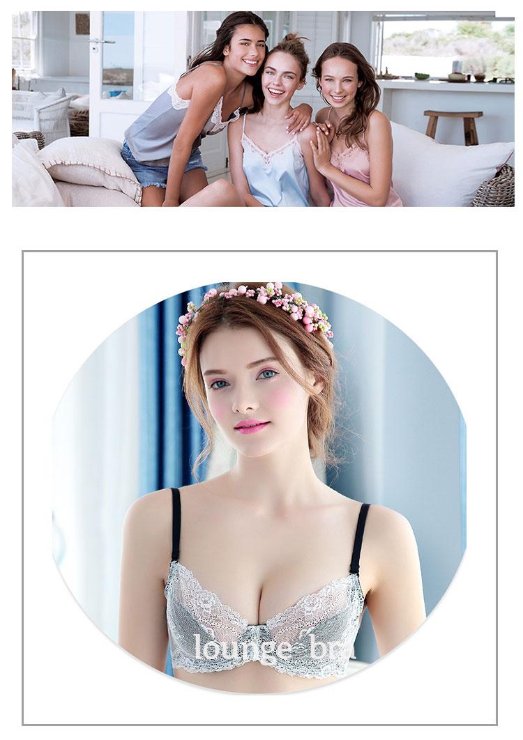 790d2a4ea8df0 push up! net bra set women s underwear set 2018 transparent bra lace  panties new design