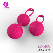 Hot selling adult novelty silicone sex toy kegel ball to tight the vagina for young mother