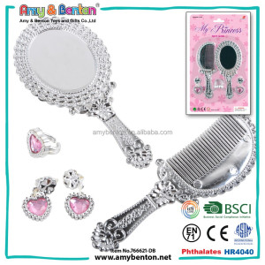 Wholesale Fashion Girl Beauty Set Mirror Comb Makeup Jewelry Set Toy