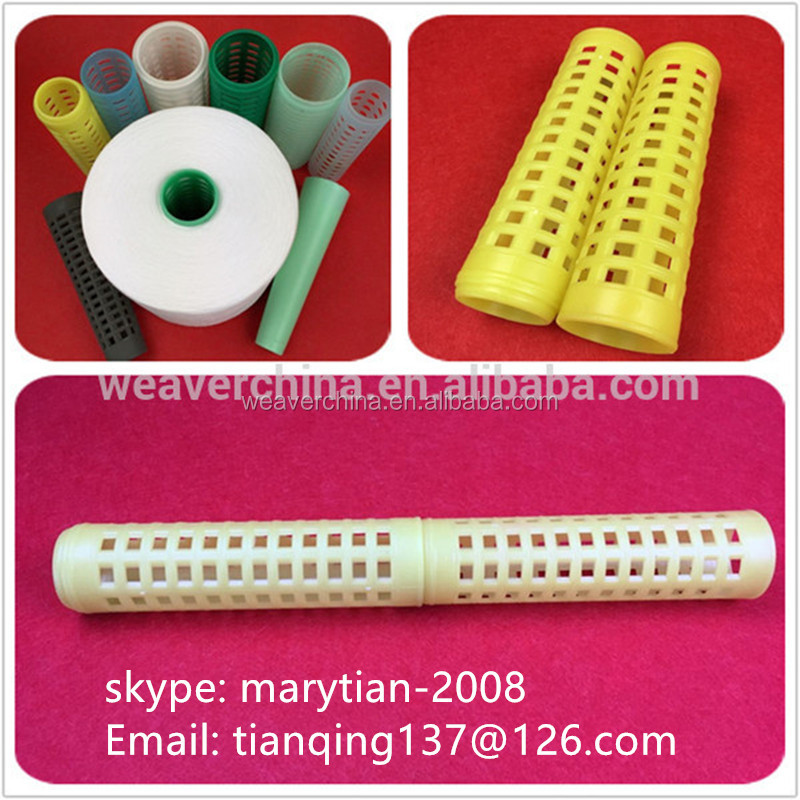 dyeing cone plastic tube bobbins for 100% spun polyester sewing thread