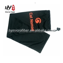 High quality magnetic sunglasses microfiber drawstring with own logo pouch