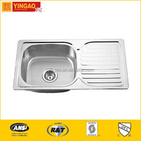 302 High quality commercial stainless steel sinks