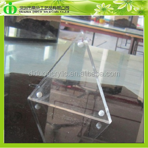 DDP-0016 Trade Assurance Triangle Magnetic Transparent Clear Glass Picture Frame