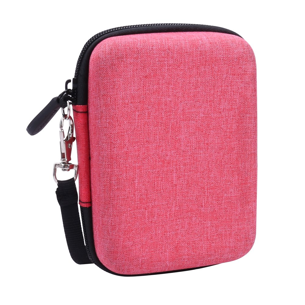 Storage Carry Case for Seagate Expansion/Backup Plus Ultra Slim External Hard Drive fits USB 3.0 Portable HDD by Aenllosi (Red)