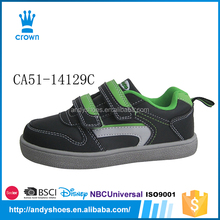 2016 New design for simple black flat hot sale china kids import sneakers