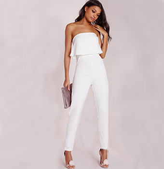 Off Shoulder White Club Ladies Sexy Rompers Jumpsuits Women Lady