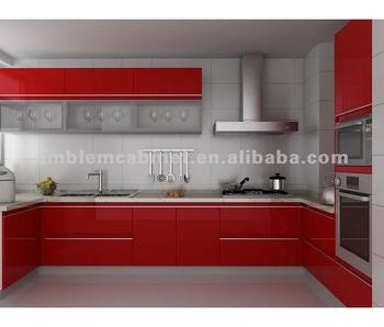 Color Rojo Alto Brillo Lacado Muebles De Cocina - Buy Mueble De  Cocina,Muebles De Cocina,Armario Product on Alibaba.com