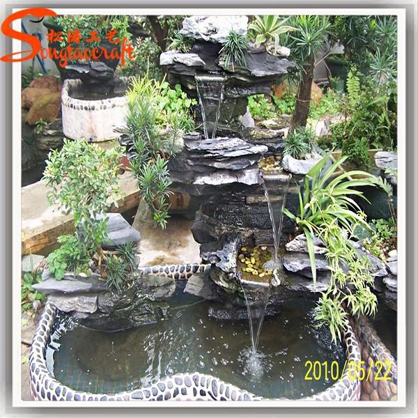 Fibra de vidrio china indoor juegos de agua y cascadas con for Piedras para cascadas